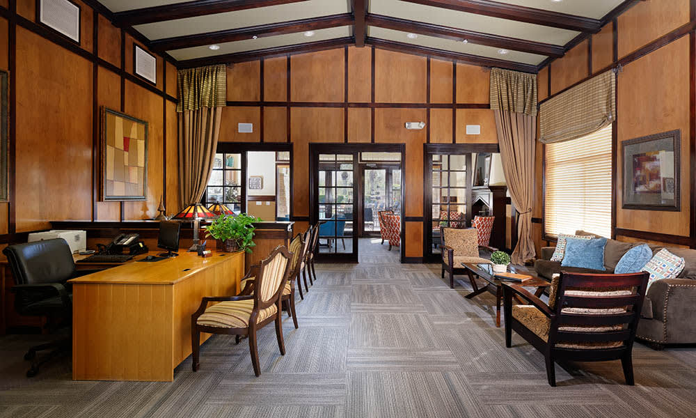 Leasing Office And Clubhouse at Camino Real in Rancho Cucamonga, CA