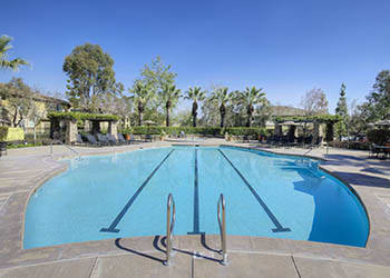 Swimming pool at Camino Real with swim lanes