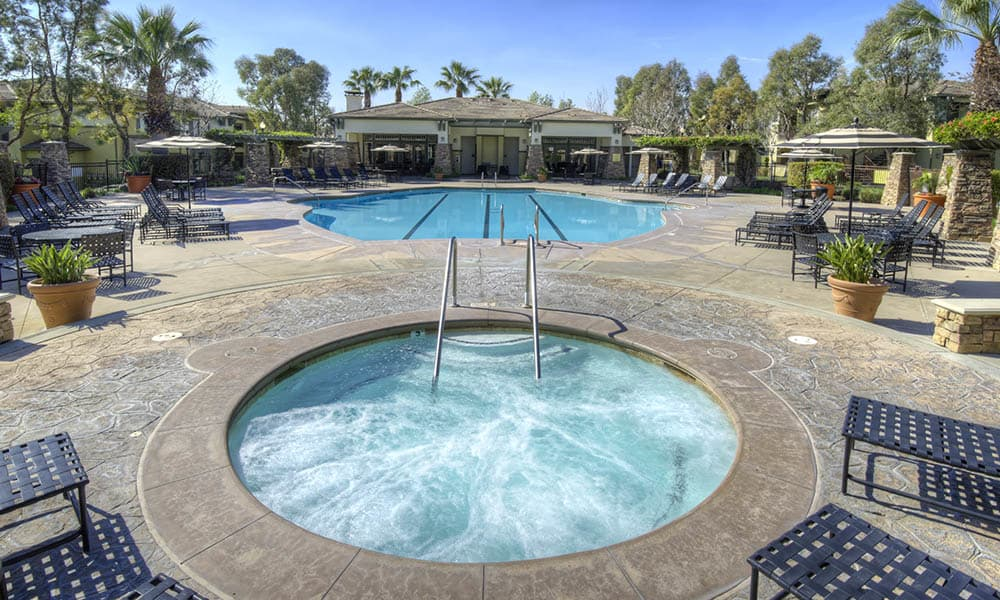 Resort Style Hot Tub And Pool at Camino Real in Rancho Cucamonga, CA
