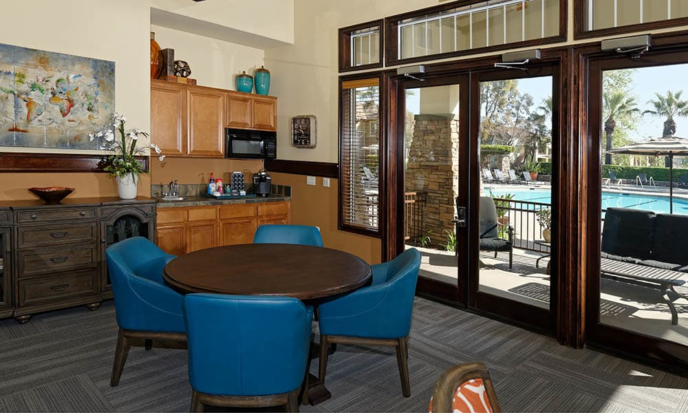 Table Seating In The Clubhouse at Camino Real in Rancho Cucamonga, CA