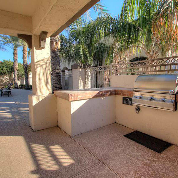 Bbq area by the pool at Dobson 2222
