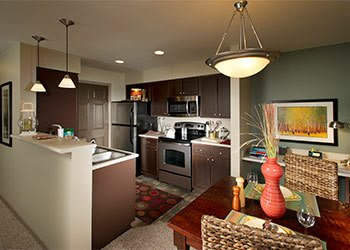 Modern kitchen at the apartments in Sammamish