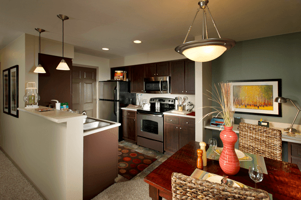 Luxury kitchen at the apartments for rent in Sammamish