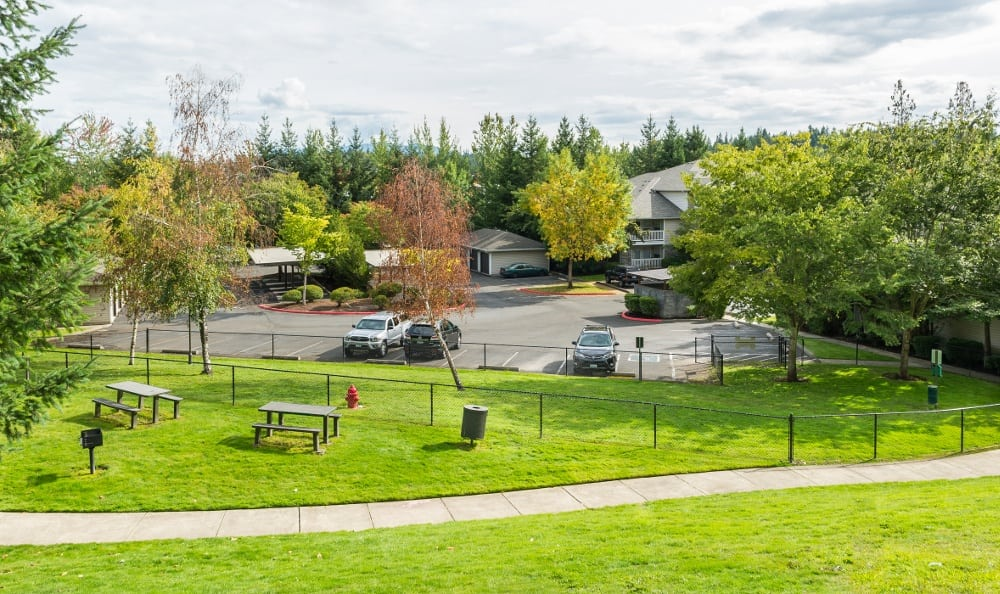 View of the grounds at The Knolls at Inglewood Hill in , WA