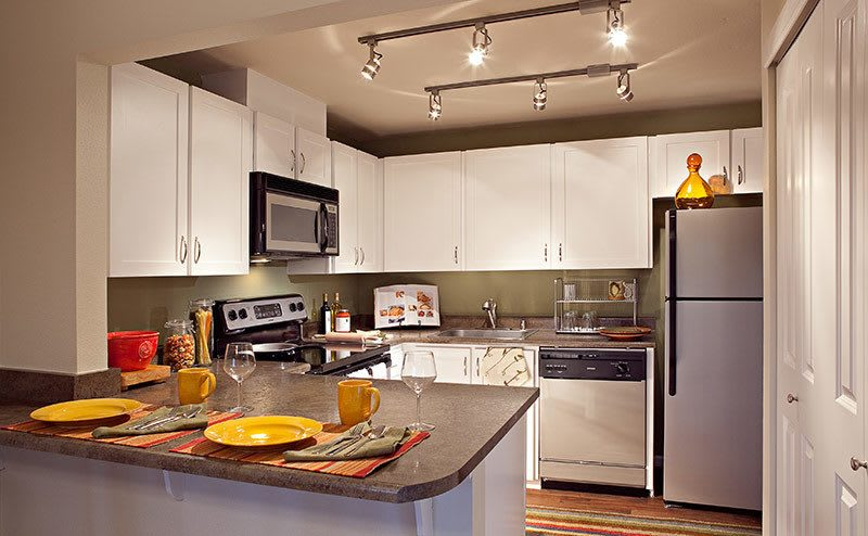 Luxury kitchen at the apartments in Bellevue