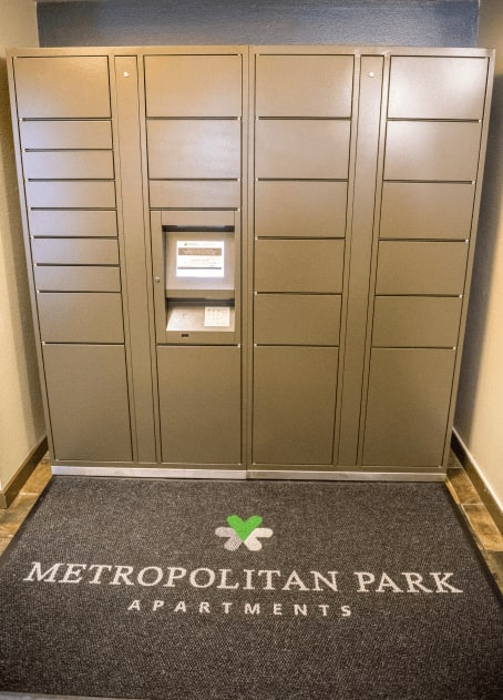 Package locker at Metropolitan Park Apartments in Seattle, WA