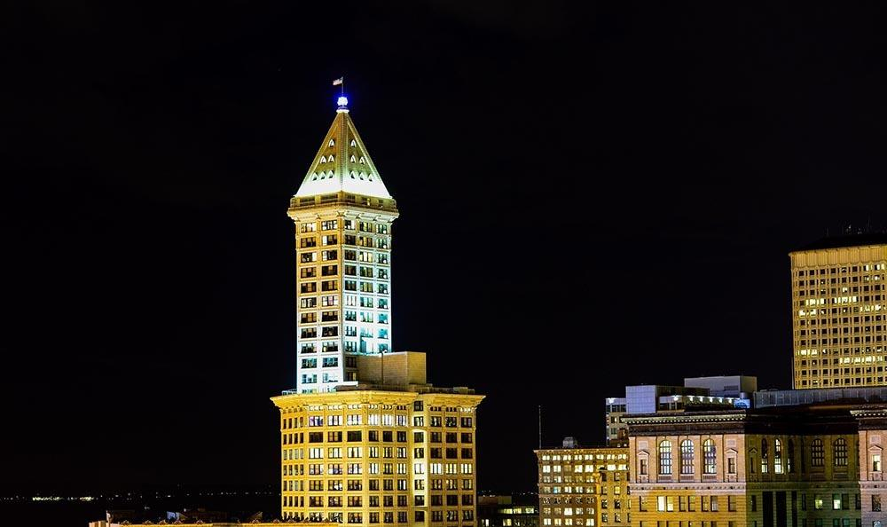 View of Smith Tower in Seattle, WA