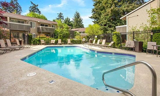 Beautiful pool at apartments in Kirkland