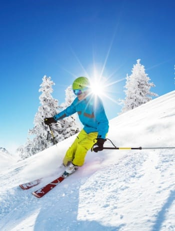 Skiing near the apartments for rent in Sandy