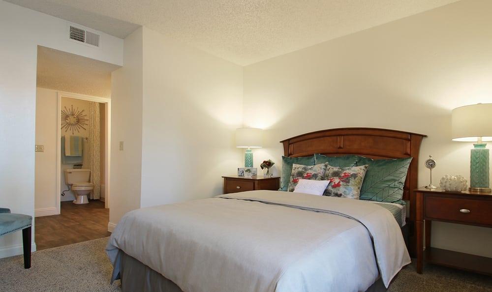 Apartment bedroom Interior At Crystal Creek Apartments