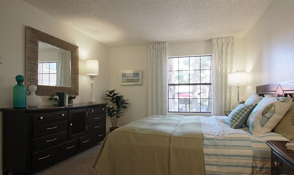 Spacious bedroom At Crystal Creek Apartments