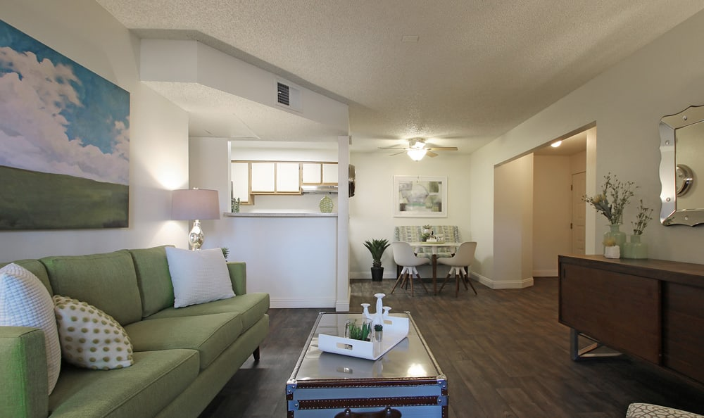Open concept floor plans At Crystal Creek Apartments