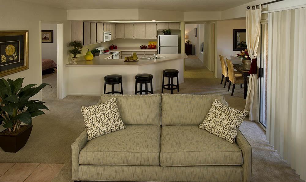 Living Room At 3055 Las Vegas Apartments