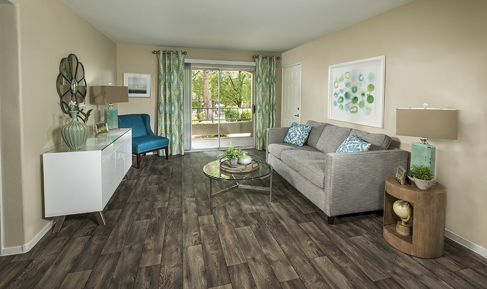 Rancho Destino Apartments apartments features beautiful wood floors.