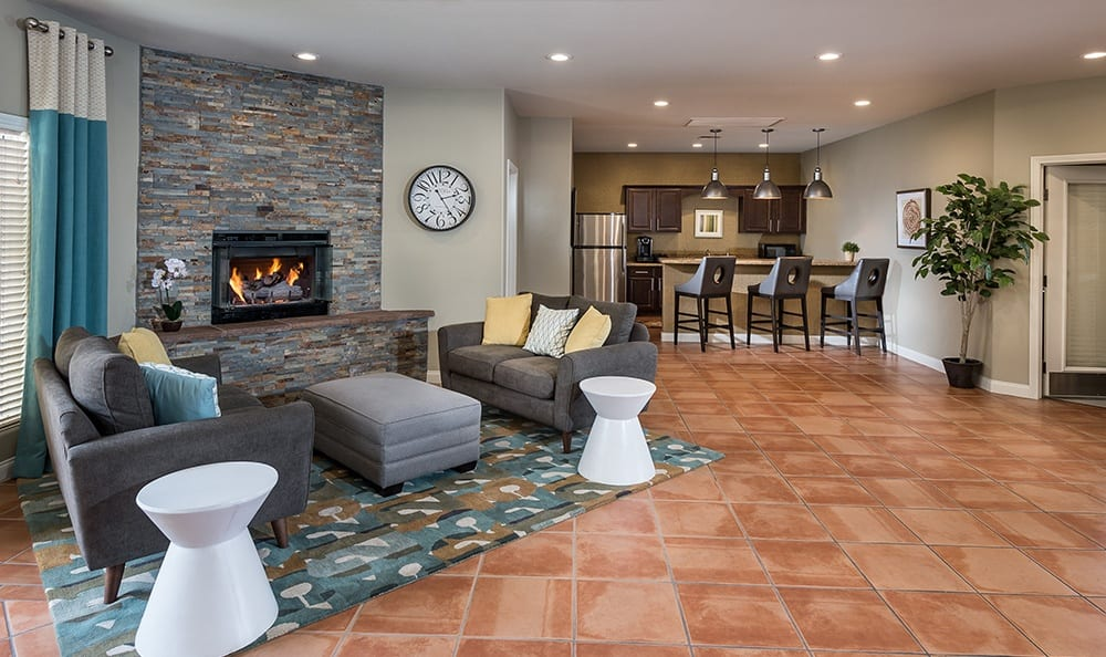 Enjoy the large clubhouse at Rancho Destino Apartments.