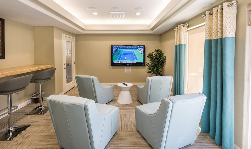 Residents lounge at apartments in NV