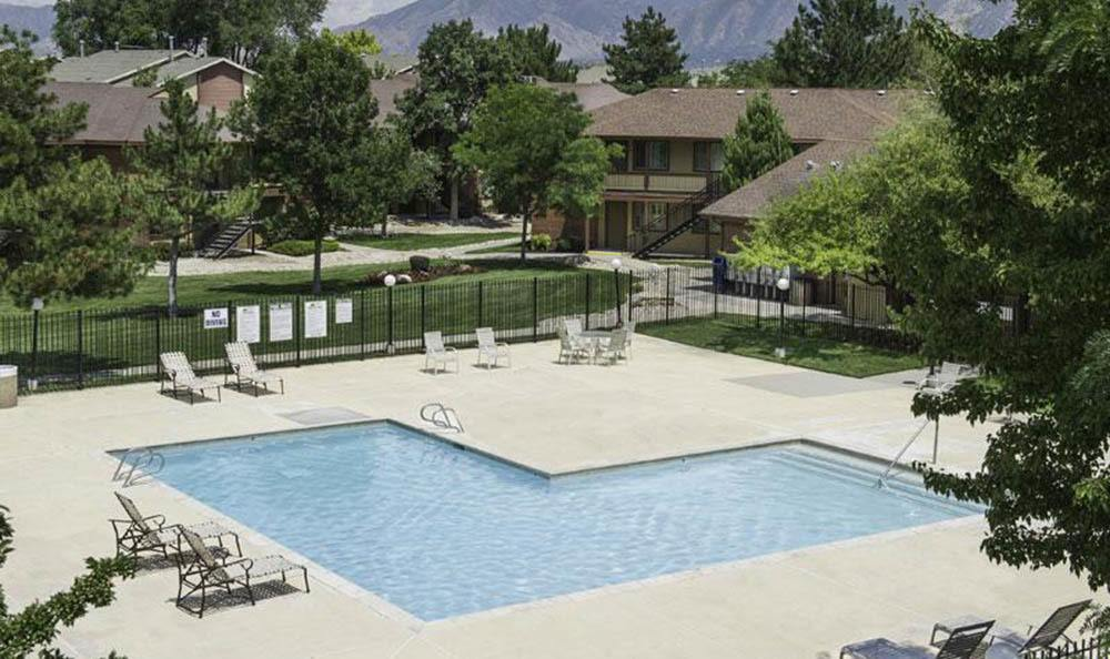 Exterior Pool At Wasatch Club Apartments