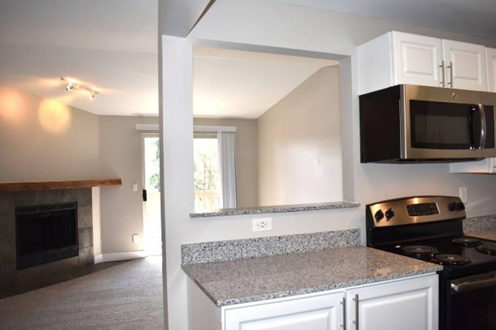 Kitchen at Campbell Run Apartments