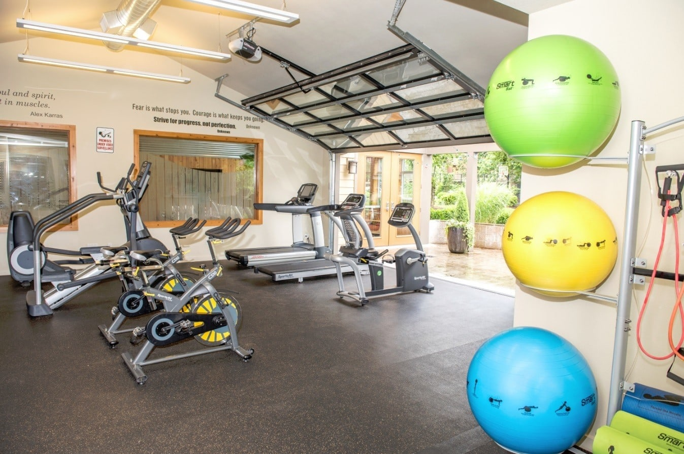 Get fit at the fitness center at Campbell Run Apartments