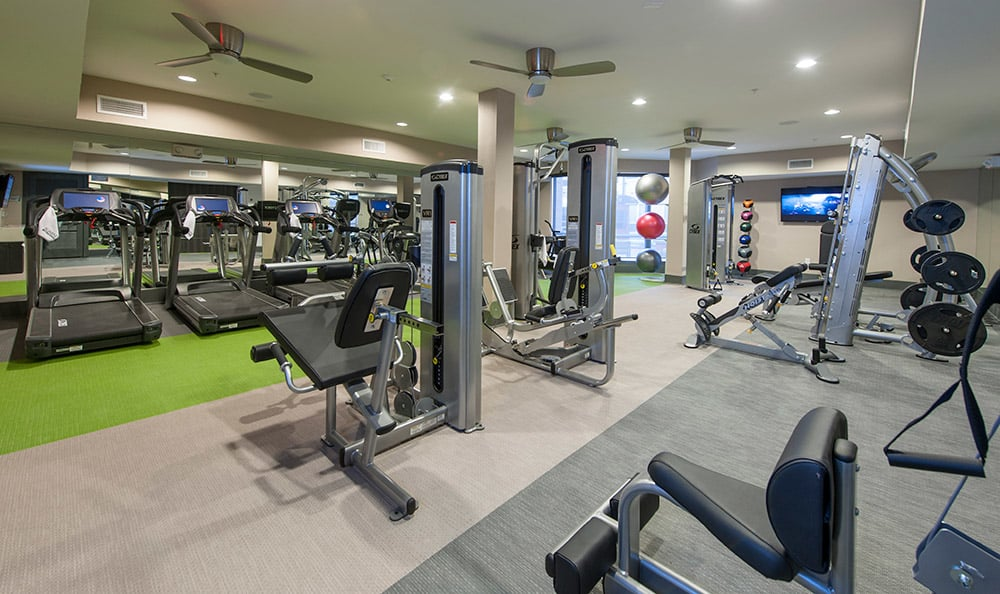 On-site fitness center at Sunrise By The Park