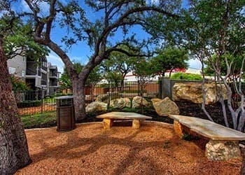 Outdoor seating area at San Antonio apartments