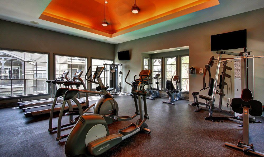 State of the art fitness center at The Parq on the Boulevard