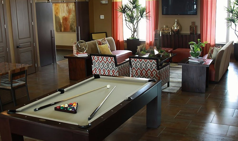 Billiards In Clubhouse At Sunrise Briar Forest