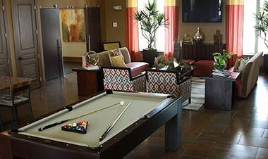 Billards in the clubhouse at Sunrise Briar Forest in Houston, TX