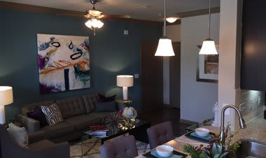 A Model Livingroom at Sunrise Briar Forest