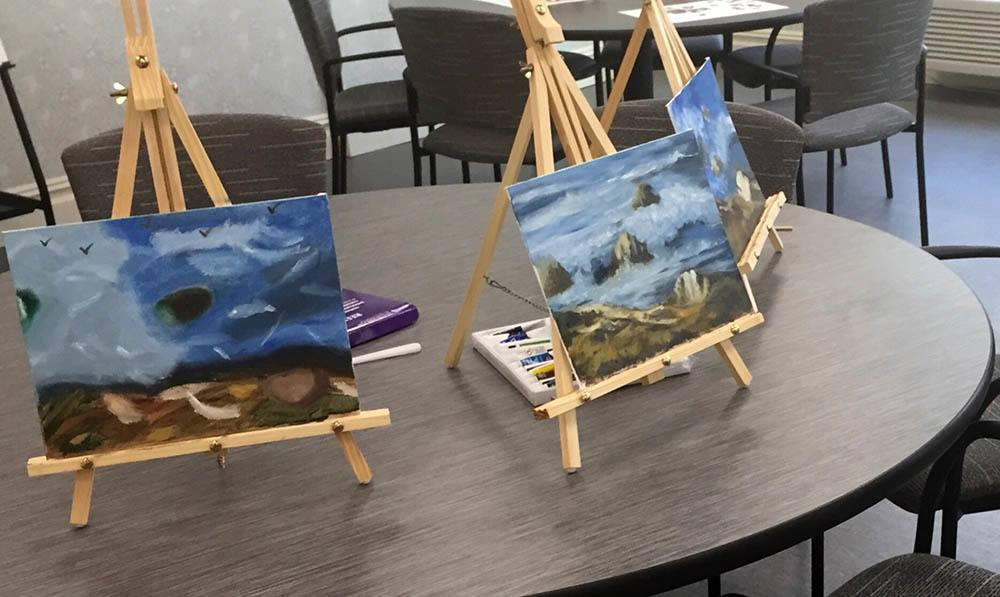 Paint in the Art Studio at White Plains senior living