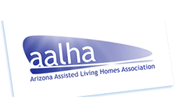 AALHA logo at the senior living community in Scottsdale