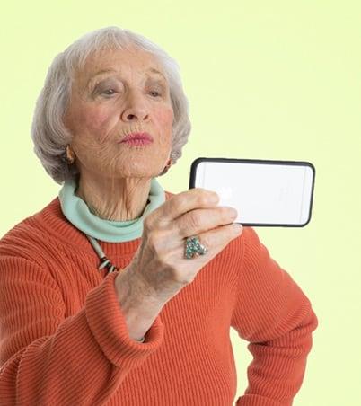 Residents taking selfie at the senior living community in Irvine