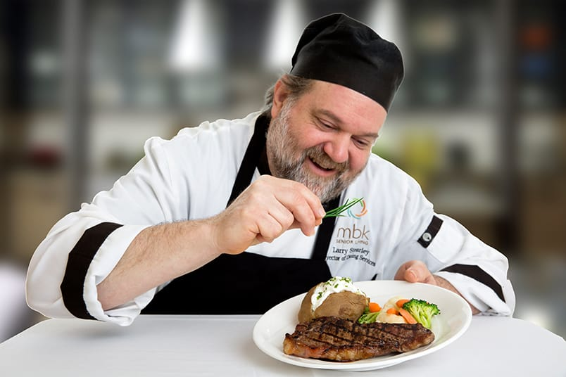 MBK's chef at the senior living community in Irvine