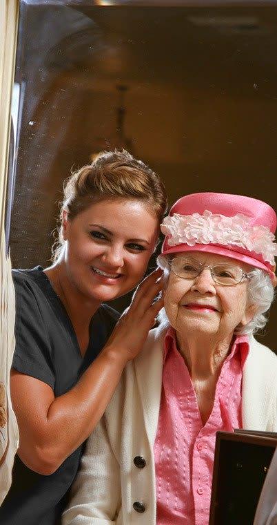 Resident dressing up at the senior living community in Irvine
