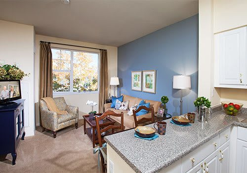 The Wellington senior living community has spacious living rooms