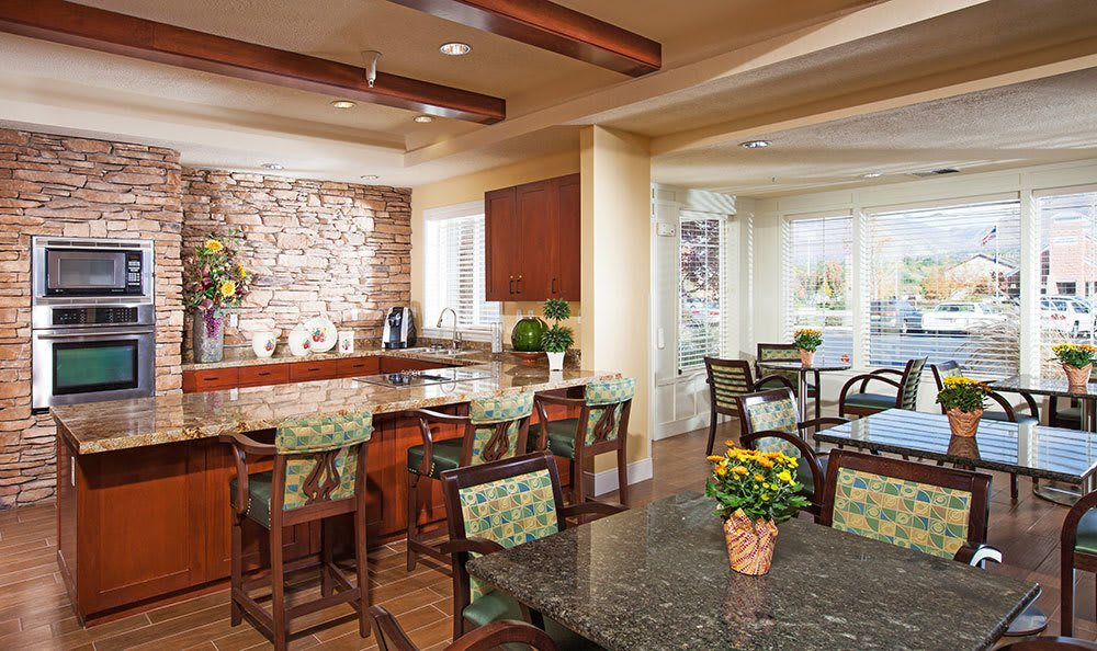 The Wellington Senior living in Salt Lake City has a luxury kitchen