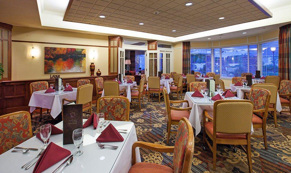 The Wellington has a spacious dining area in Salt Lake City senior living community