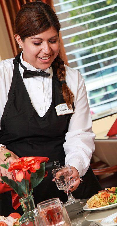 Professional dining at The Wellington senior living community in Salt Lake City