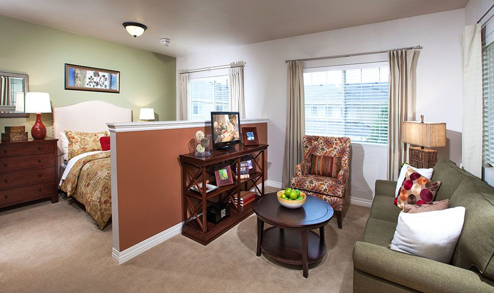 Apartment interior at  senior living community