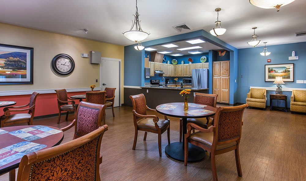 Many choices of dining areas at Chancellor Gardens at Clearfield