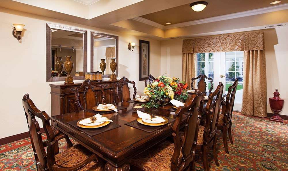 Beautiful dining room at Chancellor Gardens at Clearfield