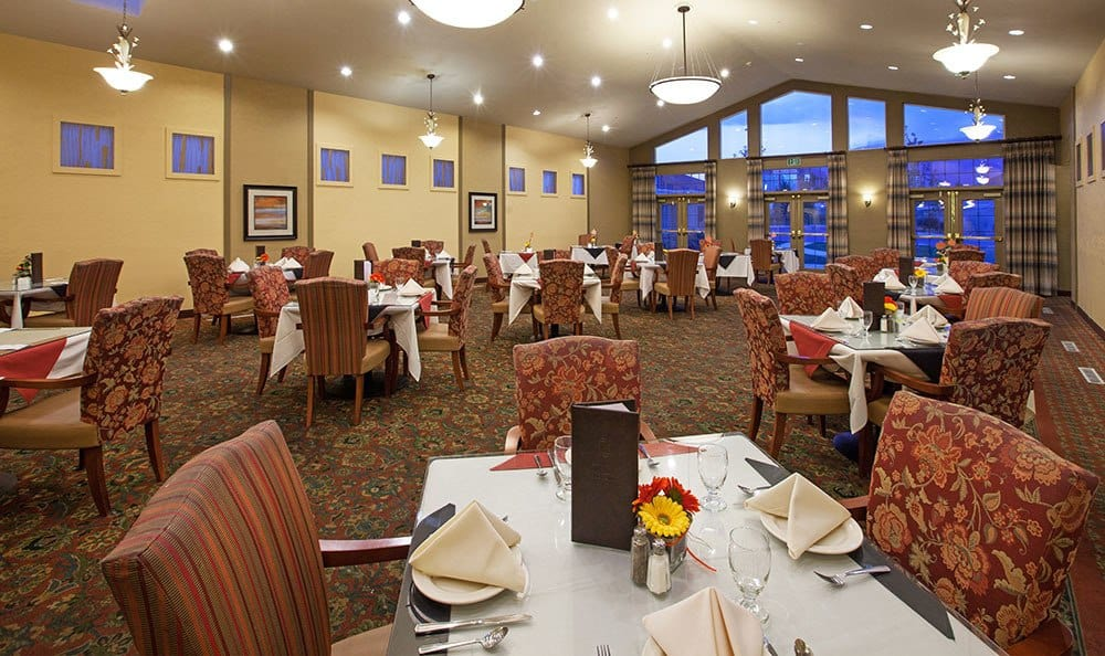 Open dining room at the senior living community in Clearfield