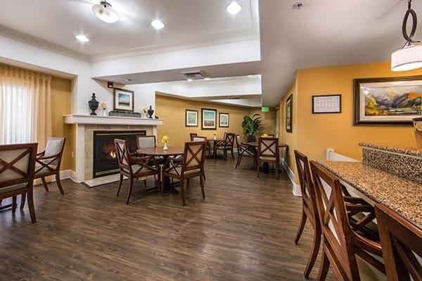 Hardwood floors at senior living in Fremont, CA