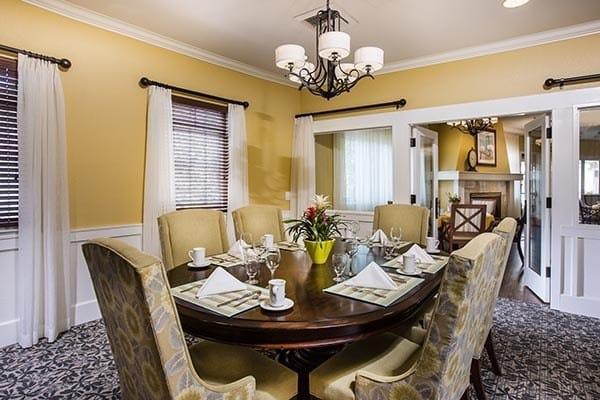 Formal dining at Fremont Hills in Fremont