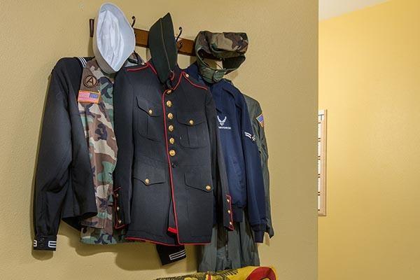 Veteran uniforms at Fremont Hills in Fremont