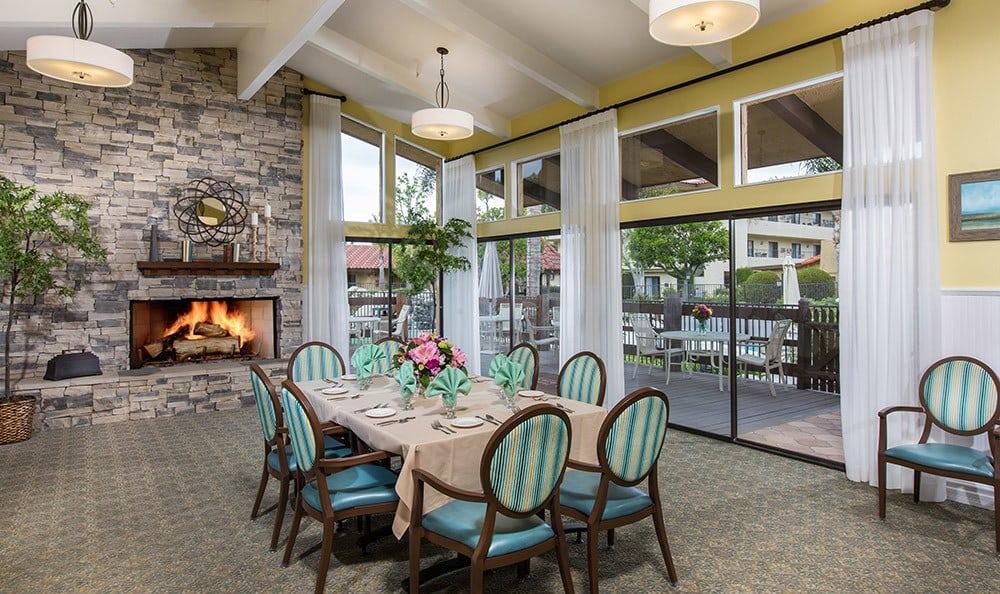 Fireside dining for seniors in Huntington Beach