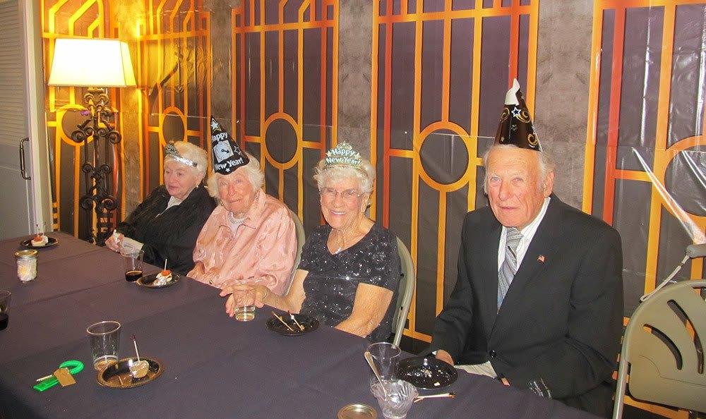 Happy new years from senior living in Huntington Beach
