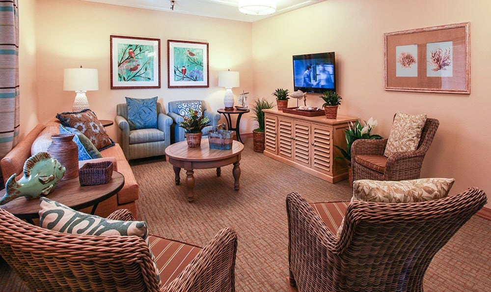 Salt Lake City senior living community has warm, cozy common areas