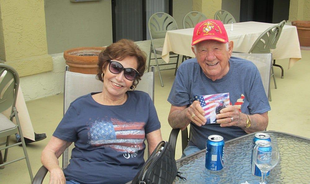 Patriotic seniors in Huntington Beach, Florida