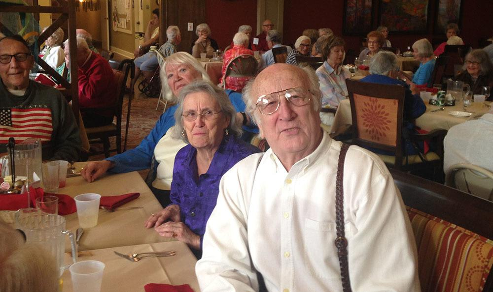 Residents dining together at the senior living community in Santa Rosa